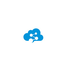 digital cloud communication logo icon vector image