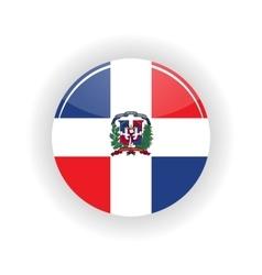 Dominican republic icon circle vector image