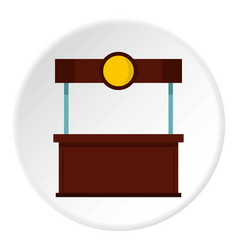 empty counter with canopy icon circle vector image