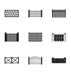 Entrance icons set simple style vector