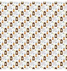 Flu influenza seamless pattern vector image vector image