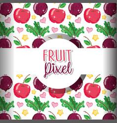 fruit pixel background vector image