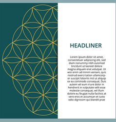 geometric colored banner can be used in website vector image