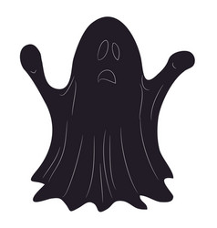ghost for halloween drawing silhouette vector image