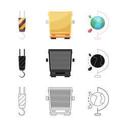 Goods and cargo symbol set vector