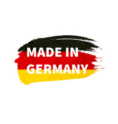 grunge brush stroke with germany national flag vector image