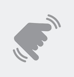 Hand in shaka gesture vector