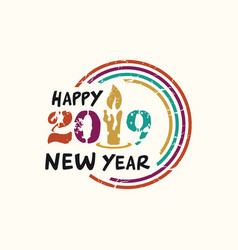 happy new year ilustration design vector image