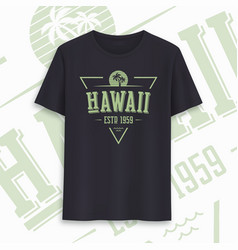 hawaii state graphic t-shirt design typography vector image