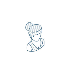 healthy young woman sport avatar isometric icon vector image