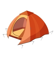 Hiking tent icon cartoon style vector