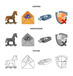 Isolated object virus and secure symbol set of vector