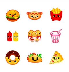 Kawaii fast-food vector image