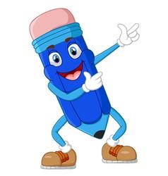 Mascot Character of Pencil in cartoon vector