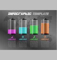 modern infographics with colorful battery vector image
