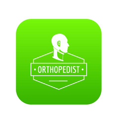 Neck orthopedic icon green vector