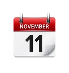 November 11 flat daily calendar icon vector