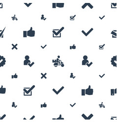 ok icons pattern seamless white background vector image