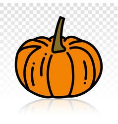 Orange pumpkins flat icon on transparent vector