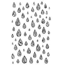 Ornate raindrops vector image