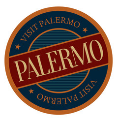 Palermo geographic stamp vector