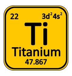 Periodic table element titanium icon vector image