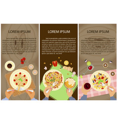 persons are eating vector image