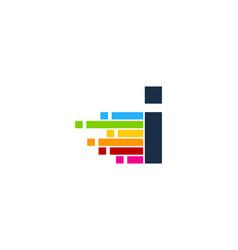 Pixel art letter i logo icon design vector