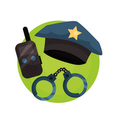 policeman icon police professional equipment vector image