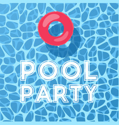 pool and inflatable ring view from above pool vector image