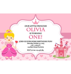 Birthday queen vector images over 270 princess birthday party invitation vector stopboris Choice Image
