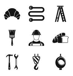 Professional activity icons set simple style vector