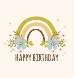 rainbow birthday hand drawn apparel vector image