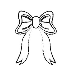 ribbon bow icon image vector image