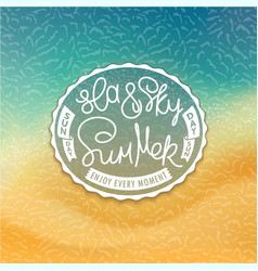 sea sky and summer styled coast background vector image