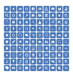 Set of 100 Universal Icons Business internet web vector image