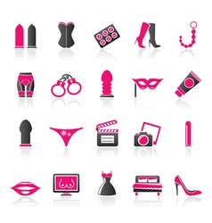 Sex Erotic and temptation icons vector