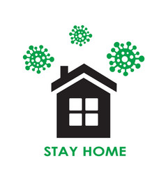 simple house and virus flies around house vector image