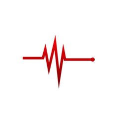 Simple medical logo designs concept pulse vector