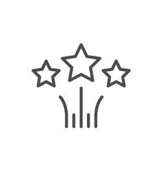 stars line icon vector image