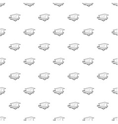 Stilt house pattern seamless vector