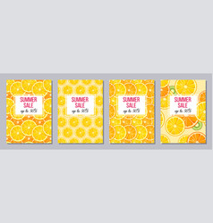 summer sale templates a6 size vector image