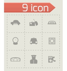 taxi icon set vector image