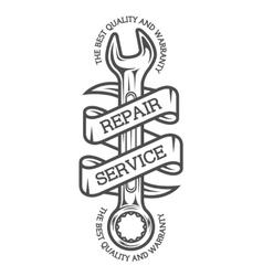 The emblem on theme repair vector