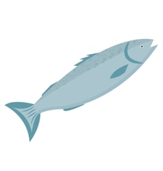 Trout icon flat style Forel fish isolated on vector image