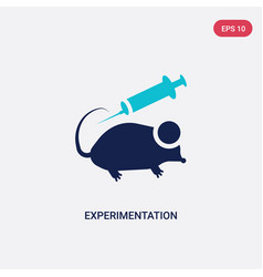 Two color experimentation icon from education vector