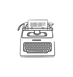 typewriter hand drawn outline doodle icon vector image