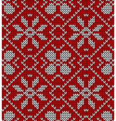 Vintage Christmas knitted pattern vector