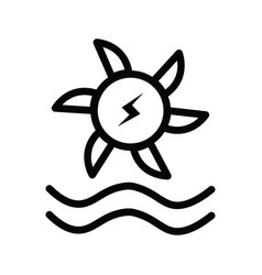 water turbine icons in flat and silhouette style vector image