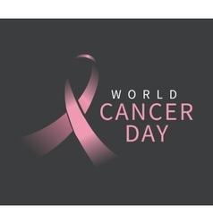 World cancer day design vector image
